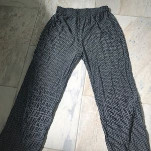 Summer cotton pants with elastic waist
